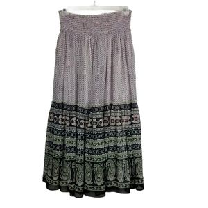 Chaudry KC Lg Pull-On Patterned Maxi Skirt NWT